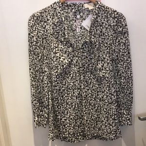 Kate Spade black and white top S EUC
